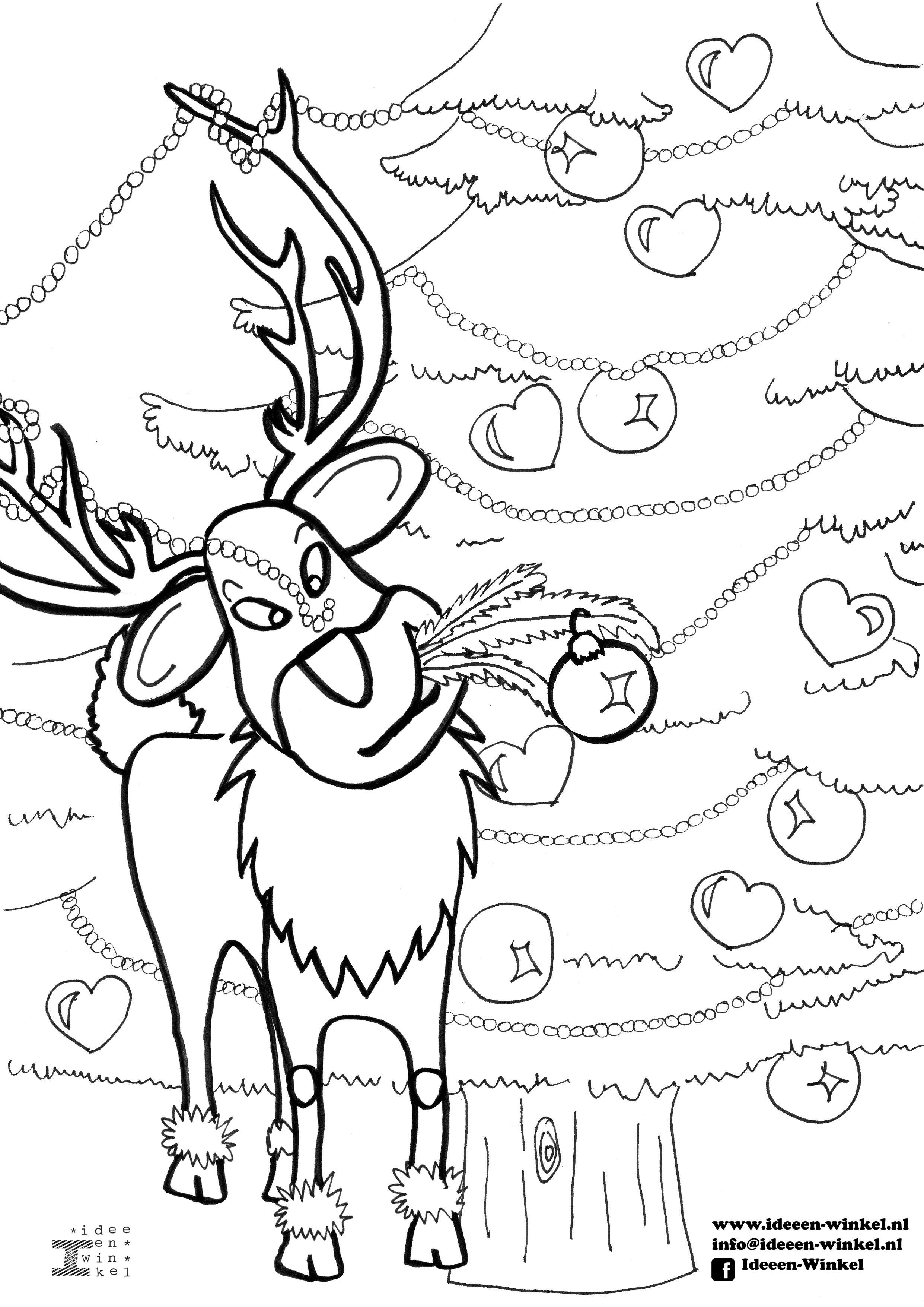 Mooi Kleurplaat Kerkraam Kerst Klupaats Download